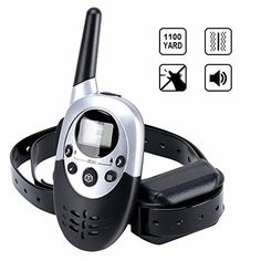 Dog Training Collar with Remote by Dreavil-8 Levels of Shock and Vibration Correction-Wireless Rechargeable and Water-Resistant Anti Bark Collar with Range up to 1000M * Click on the image for additional details.