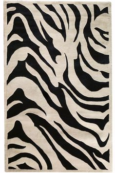 Zebra Area Rug: we love a good zebra print. #HDCrugs HomeDecorators.com