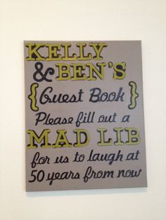 Wedding Guest Book Sign by TheSweetestEvents on Etsy. 40.00, via Etsy.