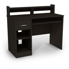 Attirant Computer Home And Office Collection Desk Wood Laminated Pure Black Finish  NEW