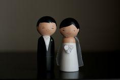 Kokeshi Doll Wedding Cake Toppers