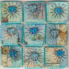 Fabric Inchies | Turquoise Inchies and La Dolce Vita Swap