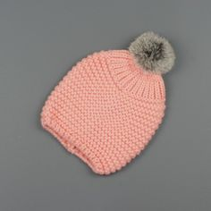 Milk & Soda Scout Beanie – Pink i want this bad! Crochet Crafts, Yarn Crafts, Knit Crochet, Knitting For Kids, Baby Knitting, How To Purl Knit, Baby Kind, Knit Beanie, Lana