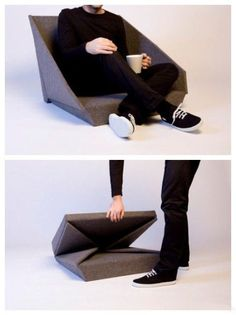 Sofa structure without legs aka portable cushions