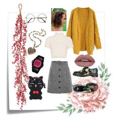 """""""🌻🌼🌹"""" by lindacorp on Polyvore featuring Post-It, Chicwish, Topshop, Staud, Dr. Martens and Casio"""