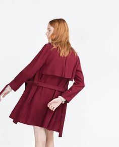 Image 3 of SHORT TRENCH COAT from Zara