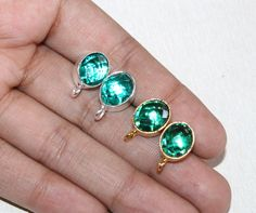 Excited to share the latest addition to my #etsy shop: 1 Pair 10x8mm Gold Plated Faceted Teal Green Quartz Stud Oval Earpost / Gemstone Ear-post / Jewelry Making - Supplies / Select Finish / 19 https://etsy.me/2GefKJF #supplies #green #beading #brass #gold #raregemsnje