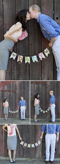 So cute! With the baby nugget banner from your gender reveal and the girls!