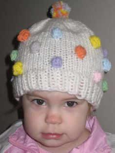 Bobble hat knitting pattern --- bobbles make things cuter. great for www.patpatshats.com