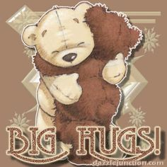 Animated Gif by Heather Gill Hugs And Kisses Quotes, Hug Quotes, Kissing Quotes, Teddy Bear Hug, Cute Teddy Bears, Tatty Teddy, Hug Pictures, Teddy Bear Pictures, Bear Pics