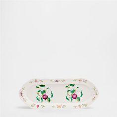 PLAT PORCELAINE RECTANGULAIRE IMPRIMÉ FRUITS - Plats - Table | Zara Home France