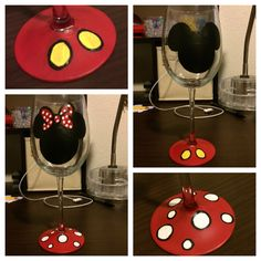 Minnie and Mickey wine glasses #disney
