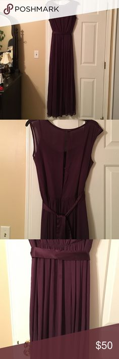 Plum Bridesmaid/ Gown Beautiful plum Bridesmaid gown, can easily be shortened. (Price marked down in result of possible need of dry cleaning services) After Six Dresses Wedding