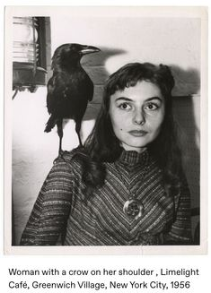 Raven Photography, Life Photography, Vintage Photographs, Vintage Photos, Beatnik Style, Beatnik Fashion, Quoth The Raven, Raven Bird, Black And White