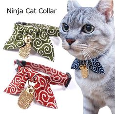Cat1st Ninja Lucky Cat Collar/Breakaway collar/Adjustable/Center of attention guaranteed >>> See this great product.