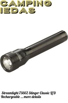 (This is an affiliate pin) Streamlight 75662 Stinger Classic LED Rechargeable Flashlight with 120-Volt AC/DC Charger and 2-Holders - 500 Lumens Camping Lights, Ice Cream Scoop, Flashlight, Charger, Led, Ac Dc, Classic, Scoop Of Ice Cream, Derby