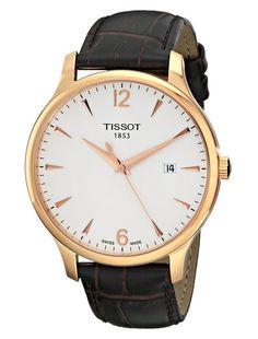 Tissot Men's Tradition Analog Display Brown Watch