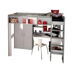 Space Hochbett Mit Schreibtisch   Hochbetten Für Kinder | Emob4kids 549