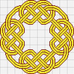 Celtic knot tapestry pattern
