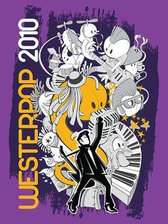 T-shirt illustration (vector) music festival Westerpop on Behance