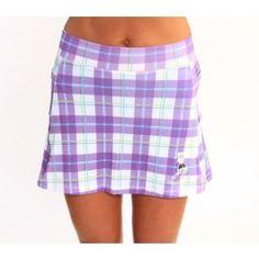 Purple Plaid Athletic Skirt
