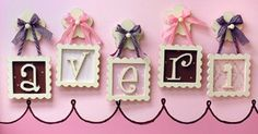 Framed wooden letters
