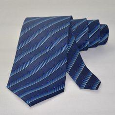 Swarovski necktie-Men's Necktie-blue-Man's shiny tie covered with original crystals-Bling tie-Glitter tie-lace tie-wedding-sparkly-handmade