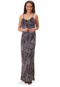 2eec2f4f293 Kai Clothing Coral Reef Black Rayon Slip Dress