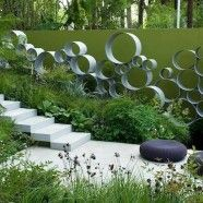 This is a garden by Andy Sturgeon. He has been named one of the UK's top landscape designers and has won 6 gold medals at the Chelsea Flower Show and 'Best in Show' in Modern Landscape Design, Modern Garden Design, Backyard Garden Design, Contemporary Garden, Modern Landscaping, Garden Art, Garden Landscaping, Garden Oasis, Balcony Design