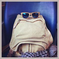 Raleri Ecolution in travel. #eco #bamboo #eyeswear #fashion #raleri #sunglasses #train #coroneltapioca #bag