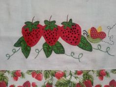 Morangos Pot Holders, Napkins, Patches, Mary, Girls, Dish Towels, Craft Ideas, Diy, Strawberries