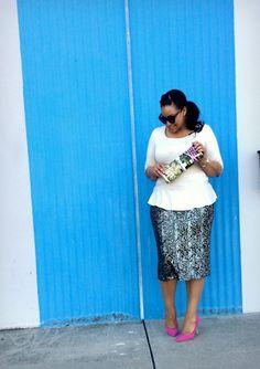 Sequin Sunday. Sequin pencil skirt modest style blog blogger.