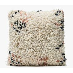 MINNA Antigua Shag Pillow 16x16 ($180) ❤ liked on Polyvore featuring home, home decor, throw pillows, shag throw pillows, textured throw pillows, white toss pillows, white throw pillows and handmade home decor
