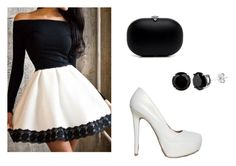 """""""Black and white outfit"""" by courtneydodson on Polyvore featuring Qupid"""