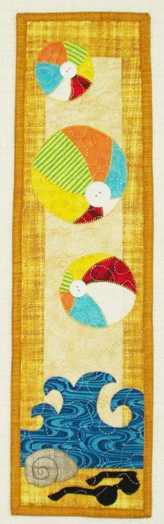 Beach Ball quilt panel