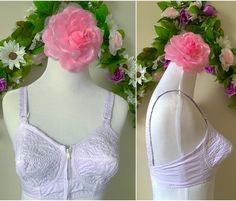 🌺 I just came across the motherload of genuine 1950s/60s wireless cotton bullet bras 🌺 I dyed this 32B one a super light lavender 🌺 I also have sizes 32C, 32A, 40B, 34C, 42D, 44D, 38B, and 32D - all are white cotton waiting to be dyed, I have multiples of some sizes 🌺 vintage sizing uses different rules than modern sizing so I'll try to be really specific when I get each listed 🌺 if you want to reserve one, or want one dyed a specific color, message me 🌺 #bulletbra #pinup #rockabilly…