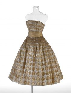 fripperiesandfobs: Dior evening dress, fall/winter 1956 From the National Gallery of Victoria
