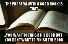 Dilemma of reading one of your favorite books.