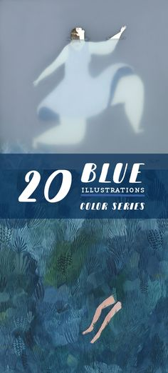 Blue illustrations // contemporary illustration