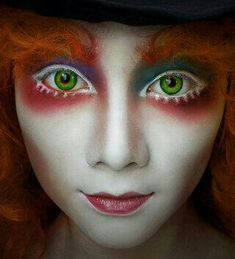 alice in wonderland, mad hatter, makeup, makeup art