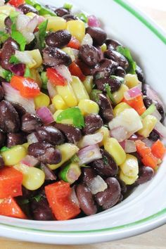 Black Bean Salad Recipe- Awesome with tortilla chips!