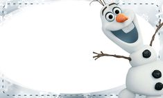 Etiqueta Escolar Personalizada Olaf Frozen 2