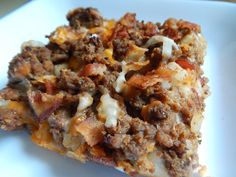 Bacon cheeseburger bubble up casserole by drizzle me skinny