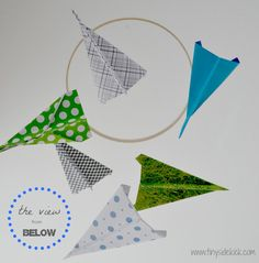 DIY Paper Airplane Mobile OR use paper planes and string a garland or banner for a birthday decoration