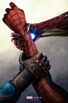 Civil War Poster Sees Heroes Fight Over Spider-Man by AndrewSS7 | moviepilot.com