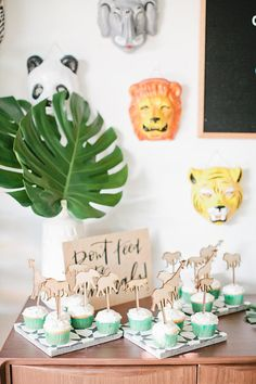 Set of Jungle Cupcake Toppers | Cupcake Toppers | Kids Party | Birthday Party | Cupcake Decorations