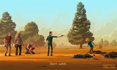 Tel Aviv-based artist Gustavo Viselner has turned some of the most recognizable movie characters, quotes and sequences into a pixelated 8-bit poster series. Each of the horizontal compositions illustrates a famous frame from a pop culture classic, accompanied by a memorable line from the scene writt