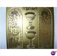 Gold Religious/1st Communion/Confirmati on Madonna & Child Peel Off Sticker Sheet on eBid Ireland