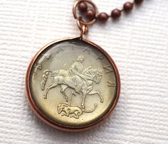Bulgarian Horse and Rider Coin by Lorinda3LJewelry on Etsy