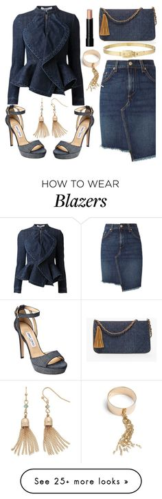 """Denim Blazer"" by deborah-calton on Polyvore featuring Chico's, rag & bone, Jimmy Choo, Lana Jewelry, Givenchy, LC Lauren Conrad, Alexander McQueen and Bobbi Brown Cosmetics"